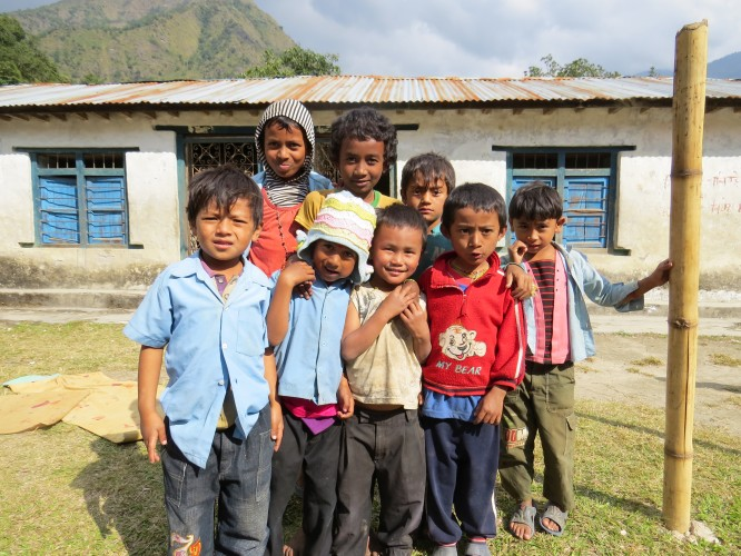 village children in nepal